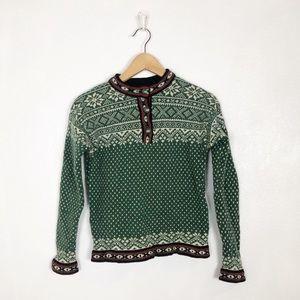 L.L. Bean Nordic fair isle knit vintage sweater